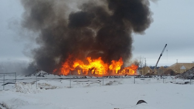 New building destroyed by fire in Appleton