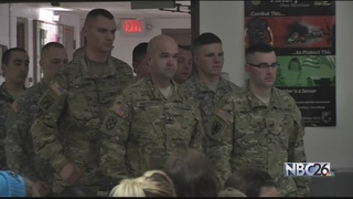 Valentine's Day deployment for 10 soldiers