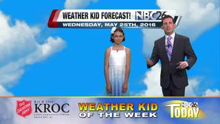 Meet Victoria, our Weather Kid of the Week
