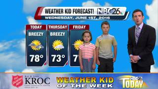 Logan and Larissa, our Weather Kids of the Week
