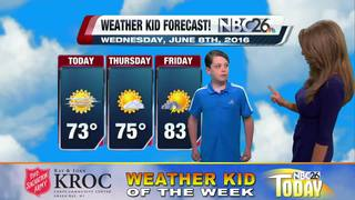 Matthew is our Weather Kid of the Week