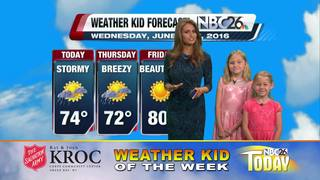 Hannah and Adeline are Weather Kids of the Week