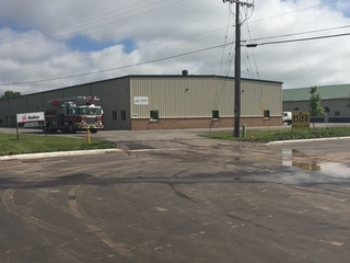 Large storage unit catches fire in Grand Chute