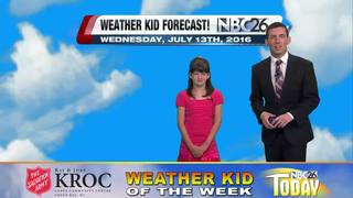 Meet Olivia, our Weather Kid of the Week