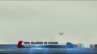 2 hurt in plane crash