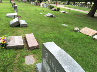 UPDATES: Headstones vandalized