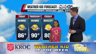 Our Weather Kid of the Week is Clara