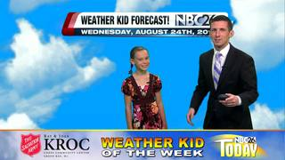 Meet our weather kid of the week Gaby