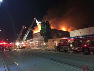 Fire at historic Oconto Falls building