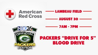 Packers 'Drive for 5' blood drive