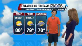 Meet our Weather Kid of the Week, Wesley