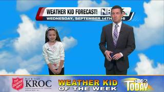 Katelynn is our Weather Kid of the Week