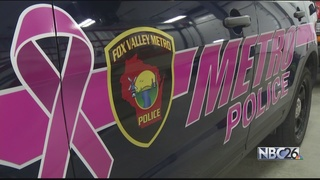 Fox Valley Metro Police's squad cars go pink