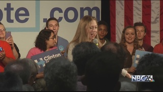 Chelsea Clinton campaigns in Green Bay