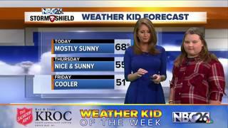 Hali Slack is our Weather Kid of the Week