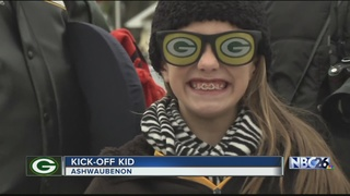 9-year-old Alexis honored as Kick-Off Kid