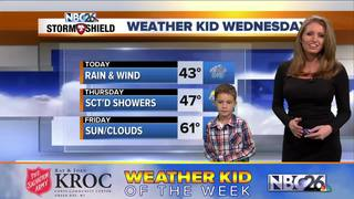 Easten is our Weather Kid of the Week
