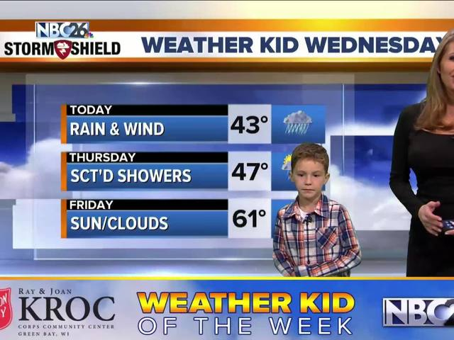 Easton is our Weather Kid of the Week