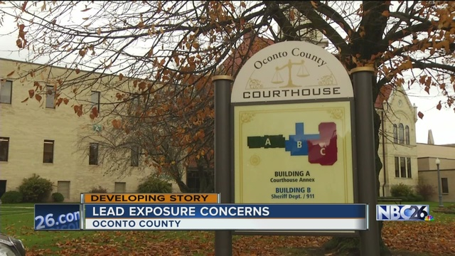 High lead levels found in Oconto Co. Courthouse