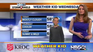 Meet Colton, our Weather Kid of the Week