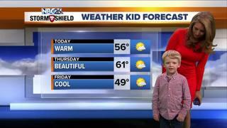 Meet Xavier, our Weather Kid of the Week