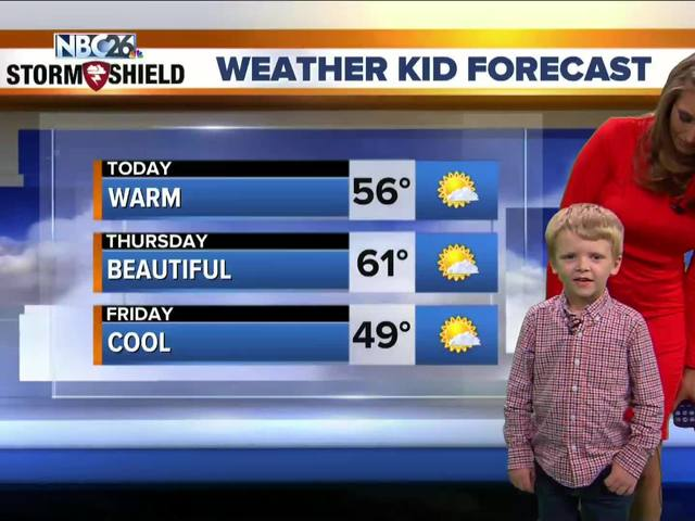 Here;s Xavier, our Weather Kid of the Week