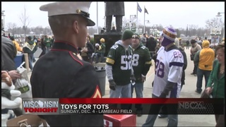 Toys for Tots Collection at Lambeau Field