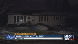 Three people without a home after attic fire