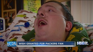 Packers fan has his final wish granted
