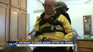 Man with MS stands for first time in 40 years