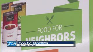 food for neighbors program which donates to local food pantries