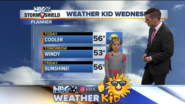Meet Aubrey Wagner, our weather kid of the week