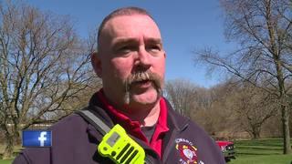 Crews rescue three people after kayak tips...