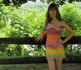 Woman makes dress out of Starburst wrappers