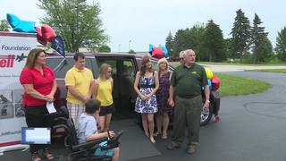 Boy with muscular dystrophy receives special van
