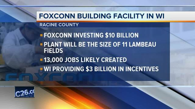 President Trump, Terry Gou, Speaker Ryan greet Wisconsin LCD plant