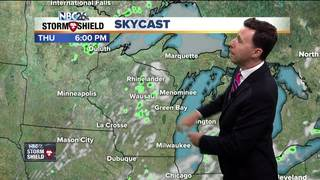 Isolated showers possible today
