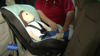 Child car seat checkup event