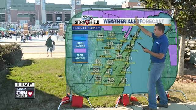 Cameron's Weather Roadshow at Packers vs- Rams preseason game