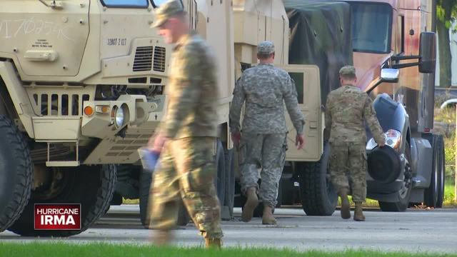 The Wisconsin National Guard is limiting its response to Hurricane Irma to just the 650 troops already there at the request of Florida on Tuesday