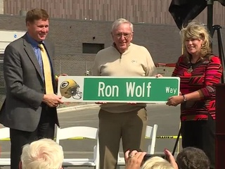 Ron Wolf 'honored' by roadway named after him
