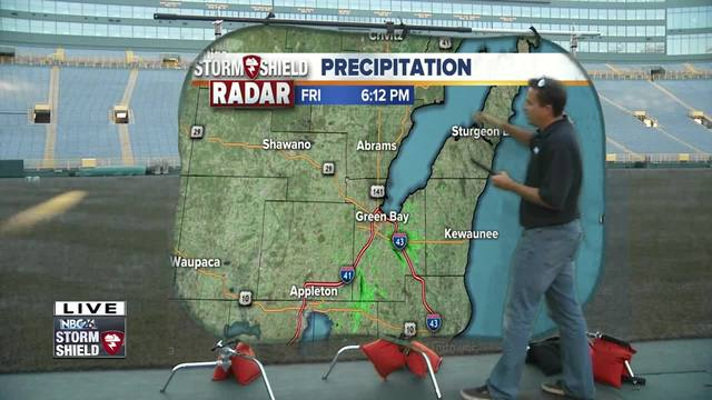 Cameron's Weather Roadshow at Lambeau Field for Packers vs- Bengals