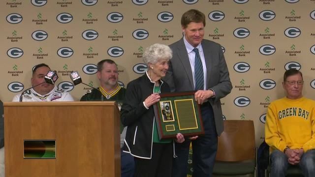 "The Packers on Tuesday announced the newest member of the Packers Fan Hall of Fame as 87-year-old Marguerite ""Mugs"" Bachhuber"