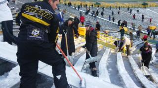 Shoveling help needed for Packers-Vikings game