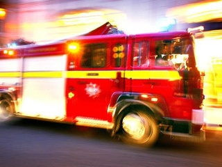 Firefighters battle fire at Holiday Inn