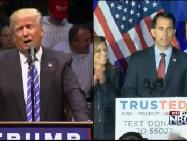 Walker to appear with Trump for worker event