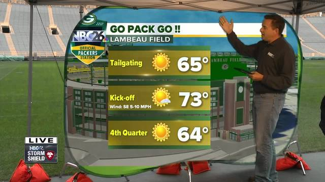 Cameron's Weather Roadshow at Lambeau Field for Kickoff Weekend