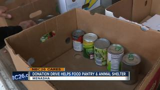 Donation drive benefits people and pets