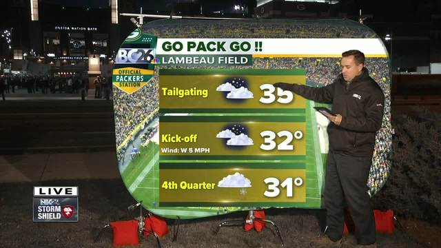 Cameron-s Weather Roadshow at Packers vs- Lions game