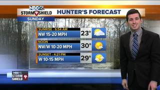 Colder conditions for Sunday
